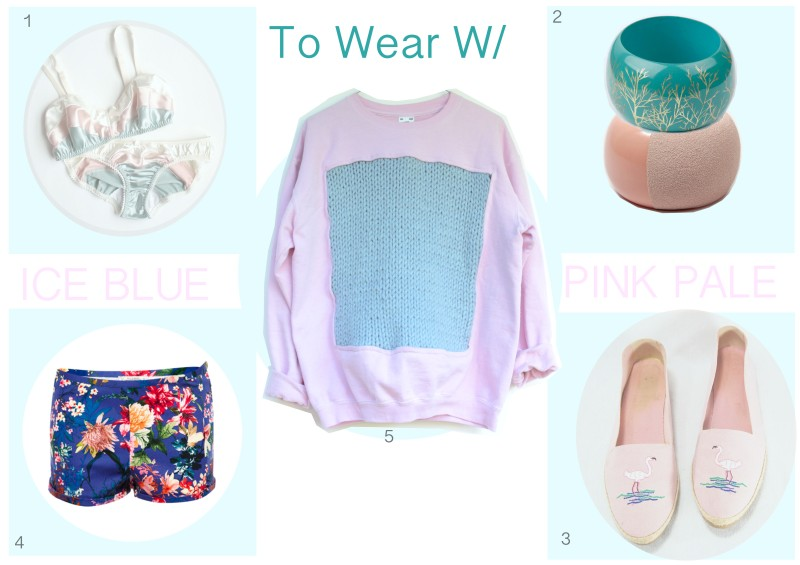 To Wear W/ Le sweet shirt ICE BLUE